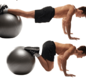 ball lower ab crunch