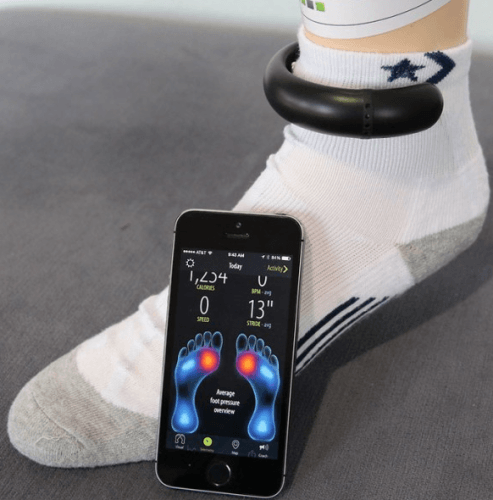 ankle fitness tracking device
