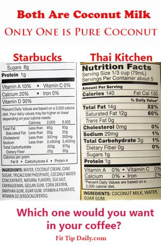 starbucks coconut milk is fake