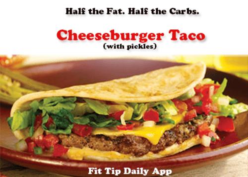 cheeseburger taco