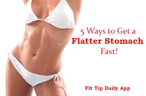 how to get a flatter stomach
