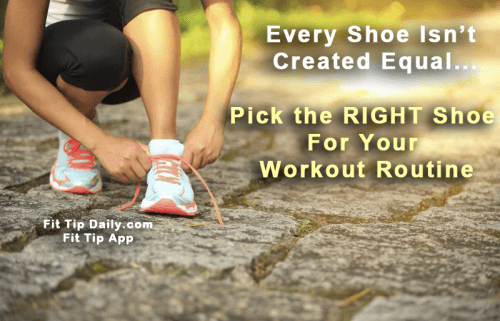 choosing the right workout shoe