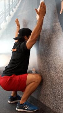 front wall squat