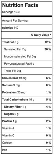 brazilian bread balls nutrition facts