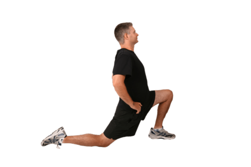 stretches for rounded back during squats