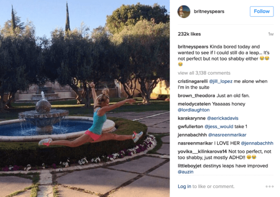 britney spears's new diet and exercise routine