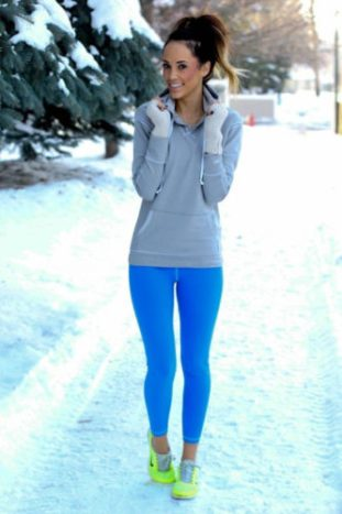 winter fitness clothes