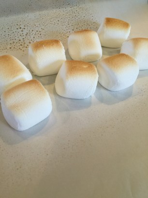 Toasty golden brown marshmallows