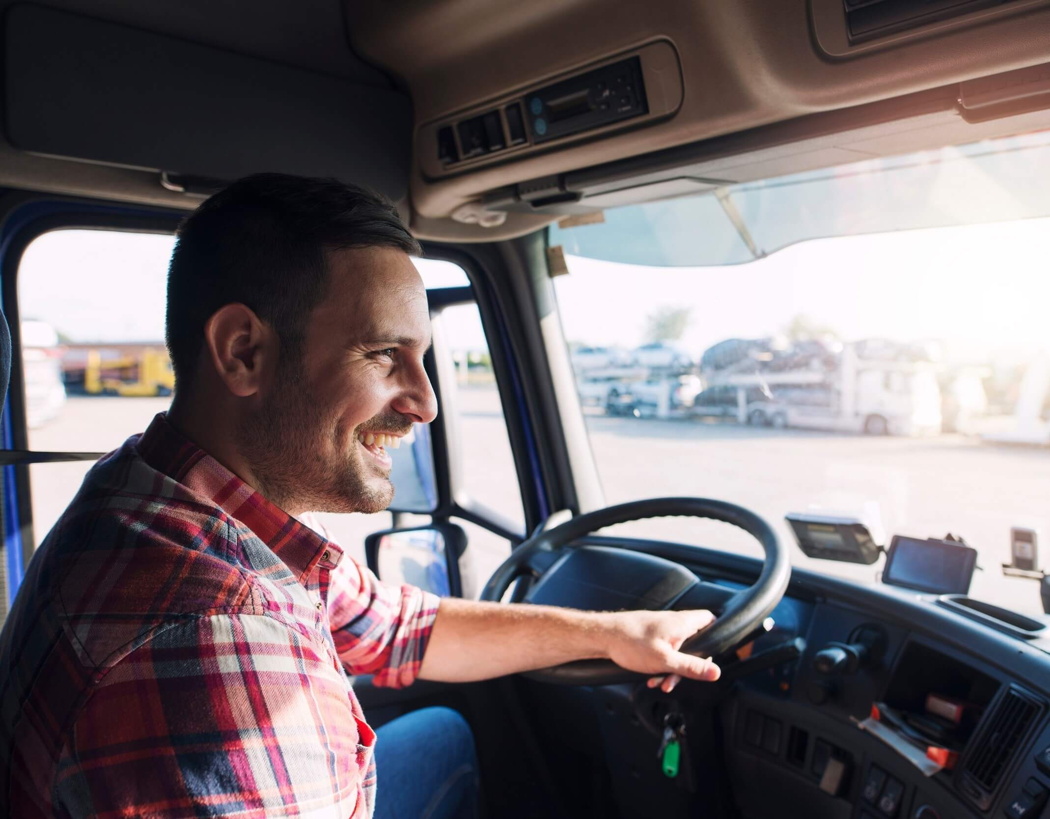 truck driver taking the fit to pass program