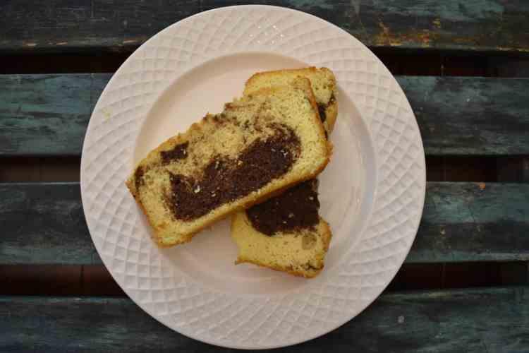 Keto Mocha Swirl Pound Cake