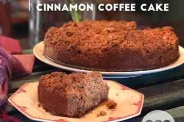 Low carb sour cream cinnamon coffee cake