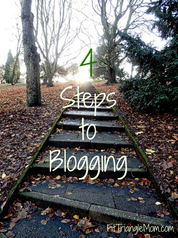 4-Steps to Blogging, Blog, Blogger, FitTriangleMom.com