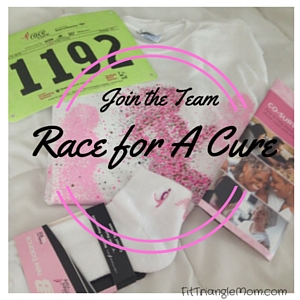 join the team. Susan G Komen Race for the Cure for breast cancer.
