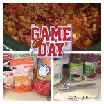 Game day chili, a simple recipe using ingredients found at your neighborhood Food Lion store. recipe provided.