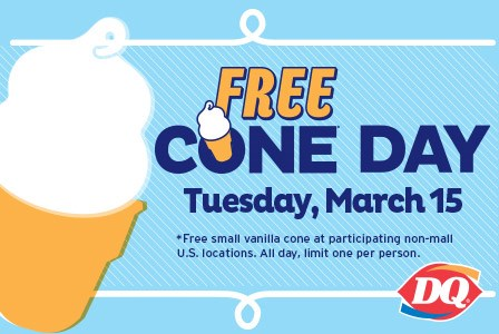 Free Cone Day at Dairy Queen. Triangle Area Dairy Queen's will be accepting donations for the Duke Children's hospital and Health Center