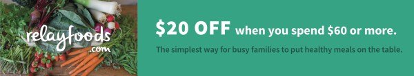 Relay Foods, an online healthy grocery store that puts convenience and health first. $20 off coupon