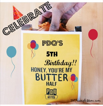 PDQ 's 5th birthday party celebration with the Honey Butter Sandwich.