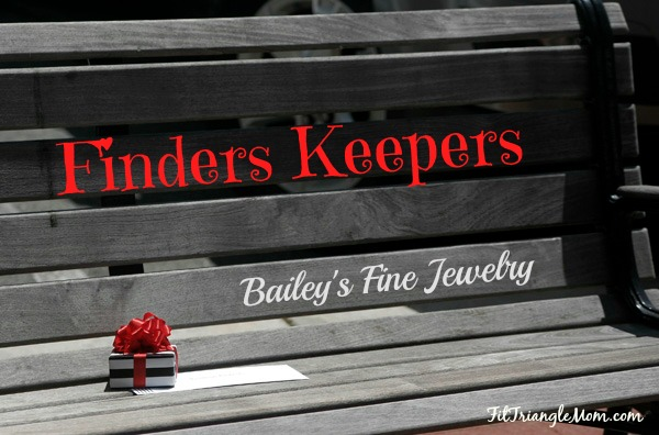 Finders Keepers Bailey's Fine Jewelry store hiding their boxes in Raleigh, Greenville, Rocky Mount.