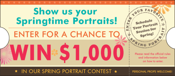 Win $1,000 in the Portrait Innovations Spring picture contest.