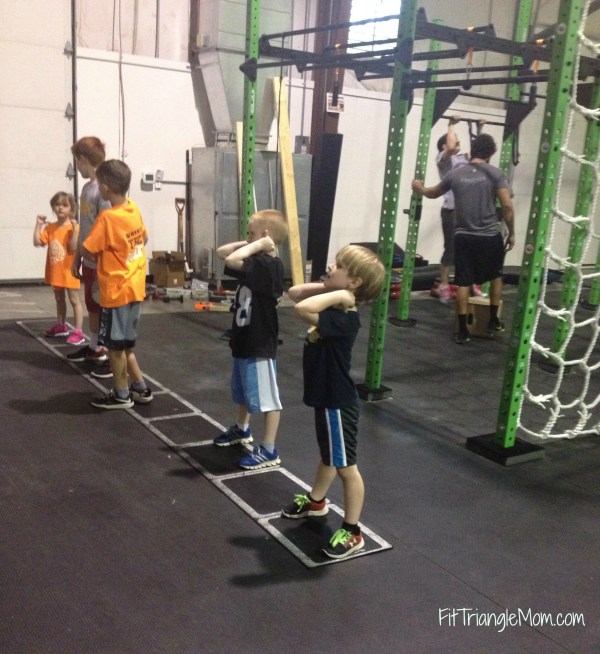 kid ninja obstacle course training at Warrior Tech OCR in Morrisville, NC.