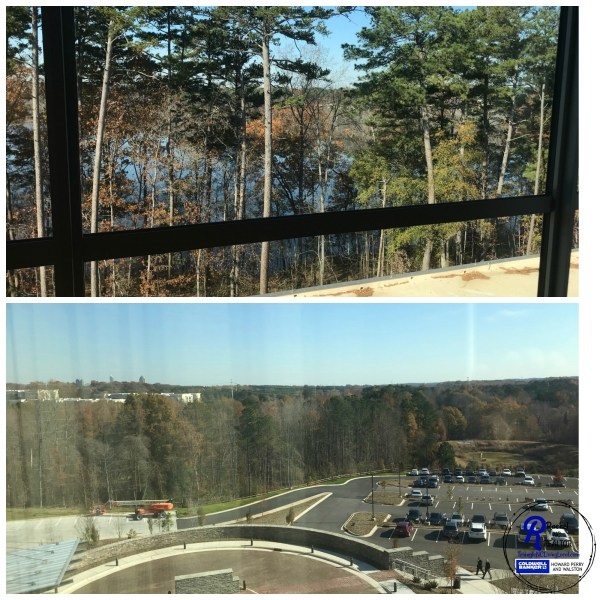 the Stateview Hotel located in Raleigh on the NC State campus celebrates engineering, textiles and agriculture. It's found in its amazing views