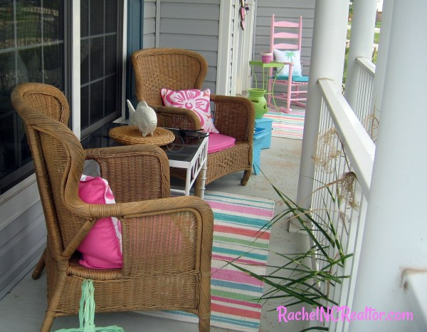 porch party pop of color, open house