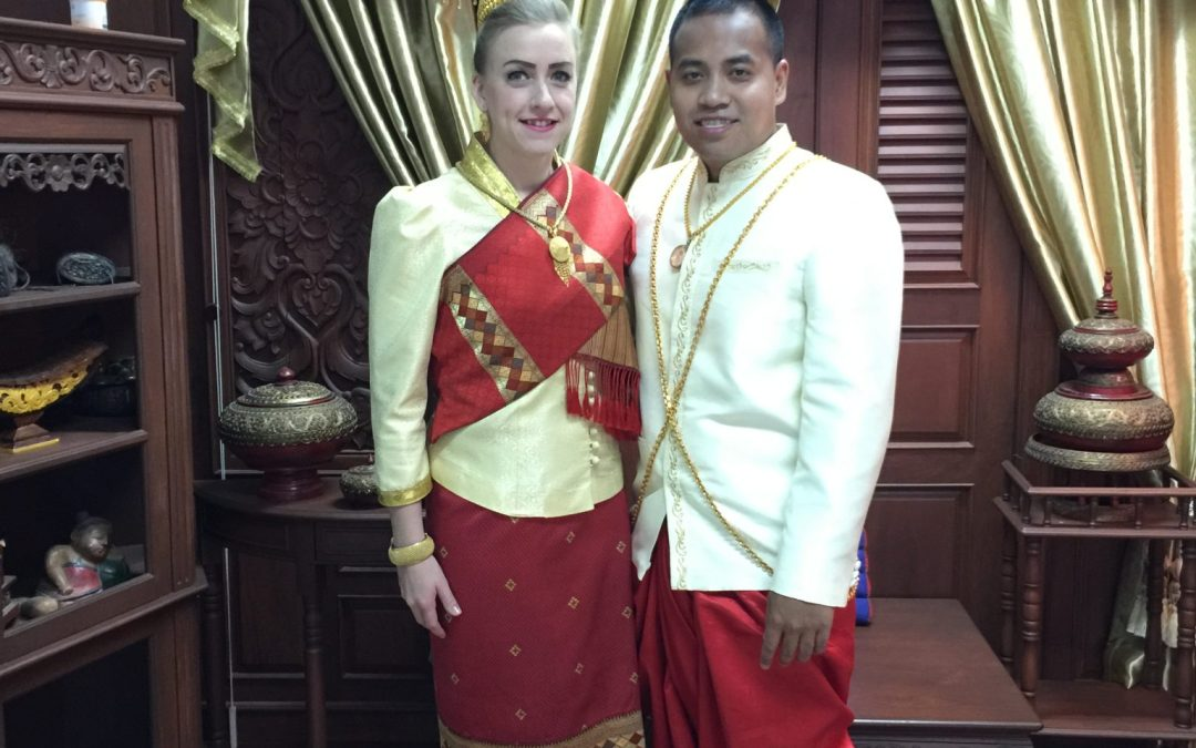 An American girl gets married in Laos