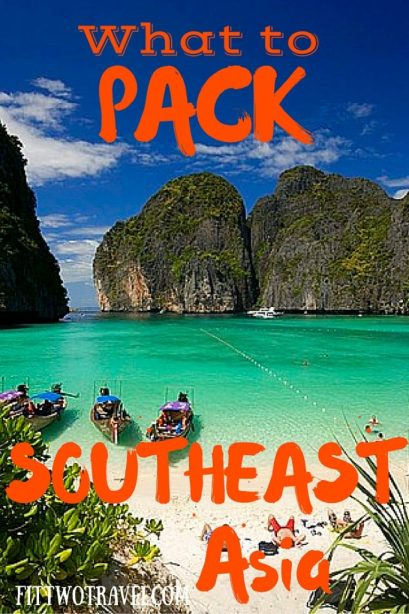 Southeast Asia packing list. How to pack a backpack for one month traveling through Thailand and Laos fittwotravel.com