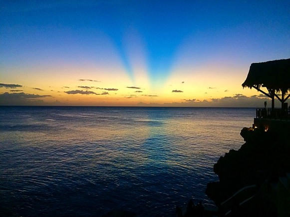 sunset from Ricks Cafe, Negril Jamaica