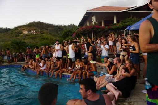 sunday funday pool crawl naked tiger nicaragua