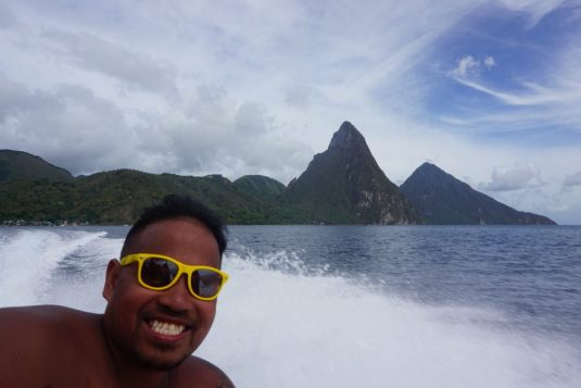 st lucia cruise fittwotravel.com piton mountains