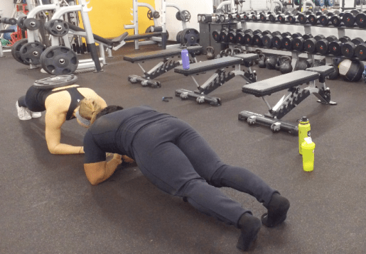 planking in pommello sweats fittwotravel.com