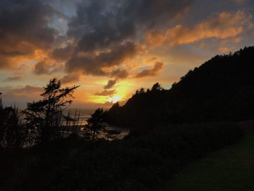 agate beach sunset