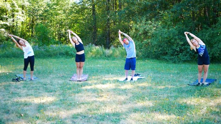 Yoga with Olympic athletes