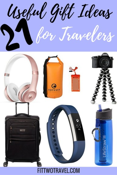 Useful Gift Ideas for Travelers | Gifts for the Travel lover | #Giftguide #Travel #Gifts Fittwotravel.com