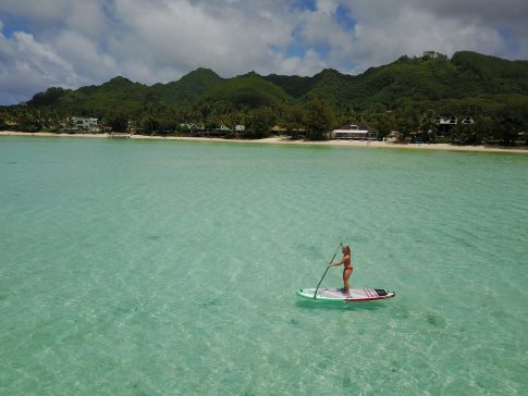 stand up paddle boarding rarotonga fittwotravel.com