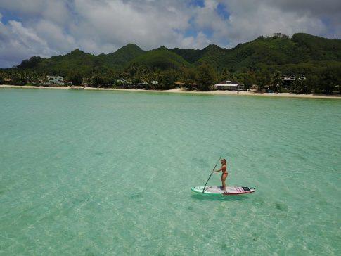 stand up paddle boarding rarotonga fittwotravel.com