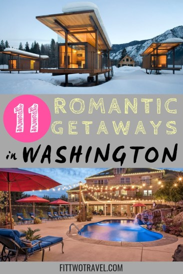 Romantic Getaways in Washington State to celebrate with your spouse, including bed and breakfasts, cabins, and romantic hotels #anniversary #romanticgetaway