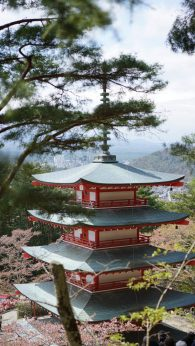 Where to see Mt Fuji Chureito Pagoda