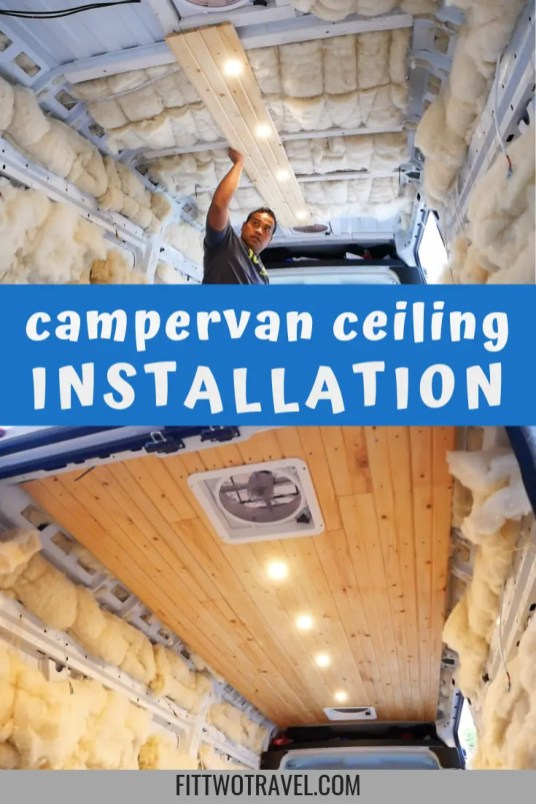 How to install wood plank ceiling in a diy campervan build