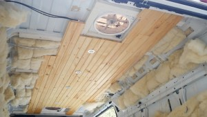 tongue and groove ceiling van conversion1