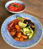 Mexicaanse salade met zoete aardappel