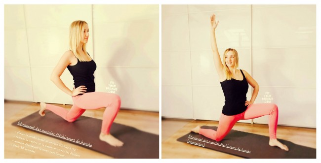 Étirement des muscles fléchisseurs de hanche