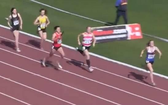 最後50米,追到第3名
