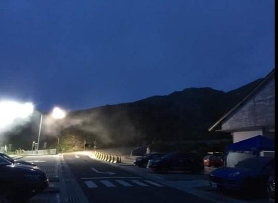未熄燈前嘅合歡山,啲街燈真係好光。