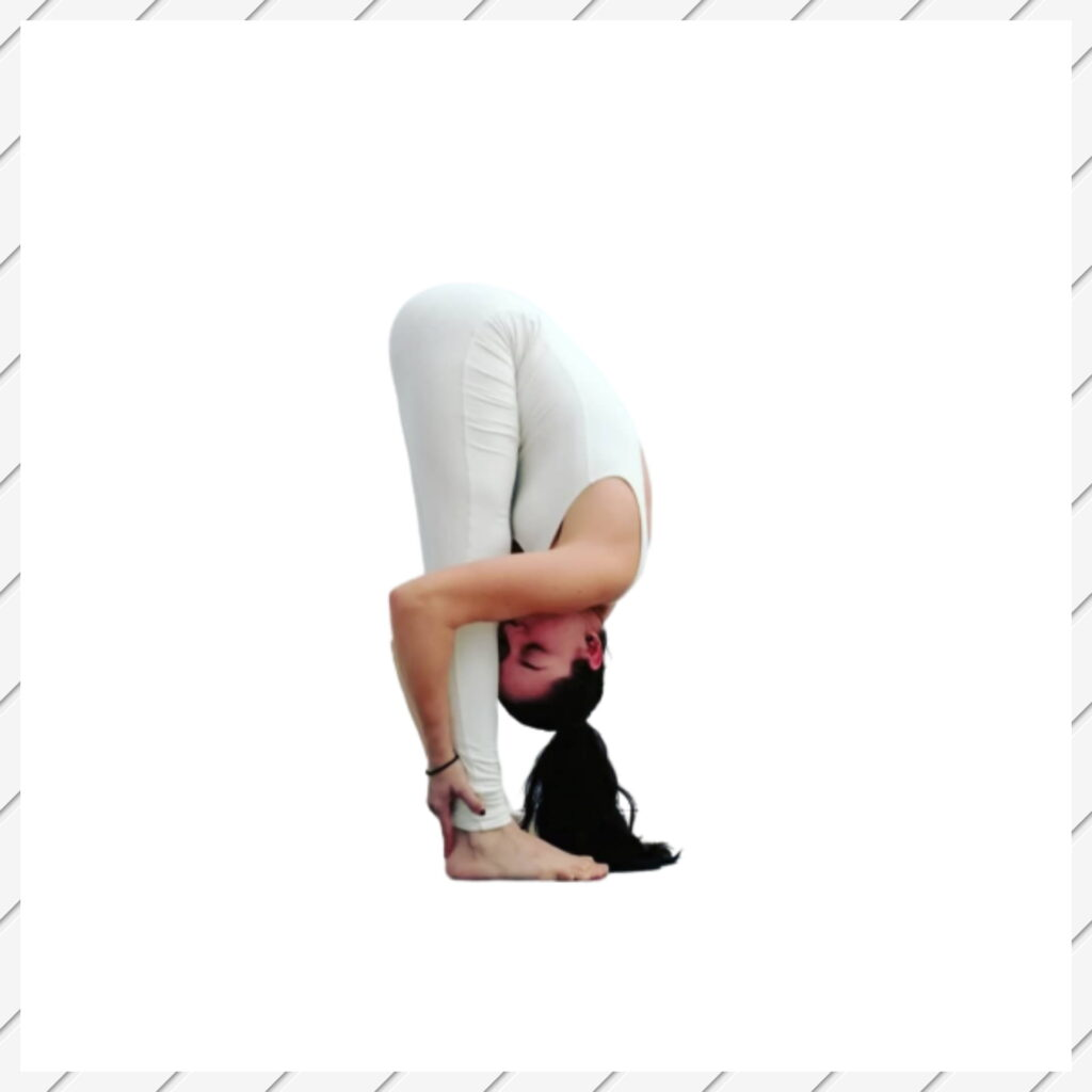 Standing Forward Fold pose - FITZABOUT