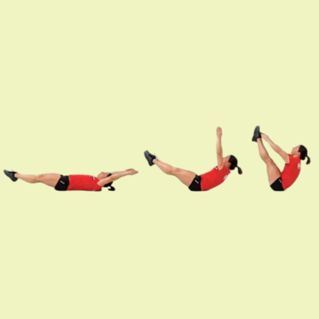 V-sit up for Bodyweight Circuit Workout - FITZABOUT