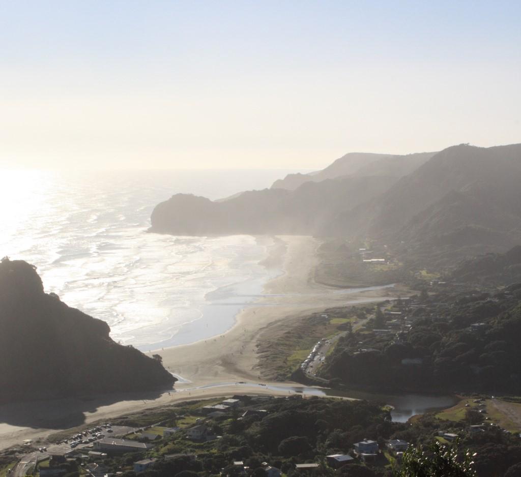 Piha beach from lookout