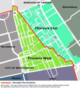 Fitzrovia West Reconfirm Border along Great Portland Street