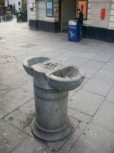 For too long at the fag end of public amenity. Drinking fountains like this one outside Great Portland Street station could be restored and new ones created.
